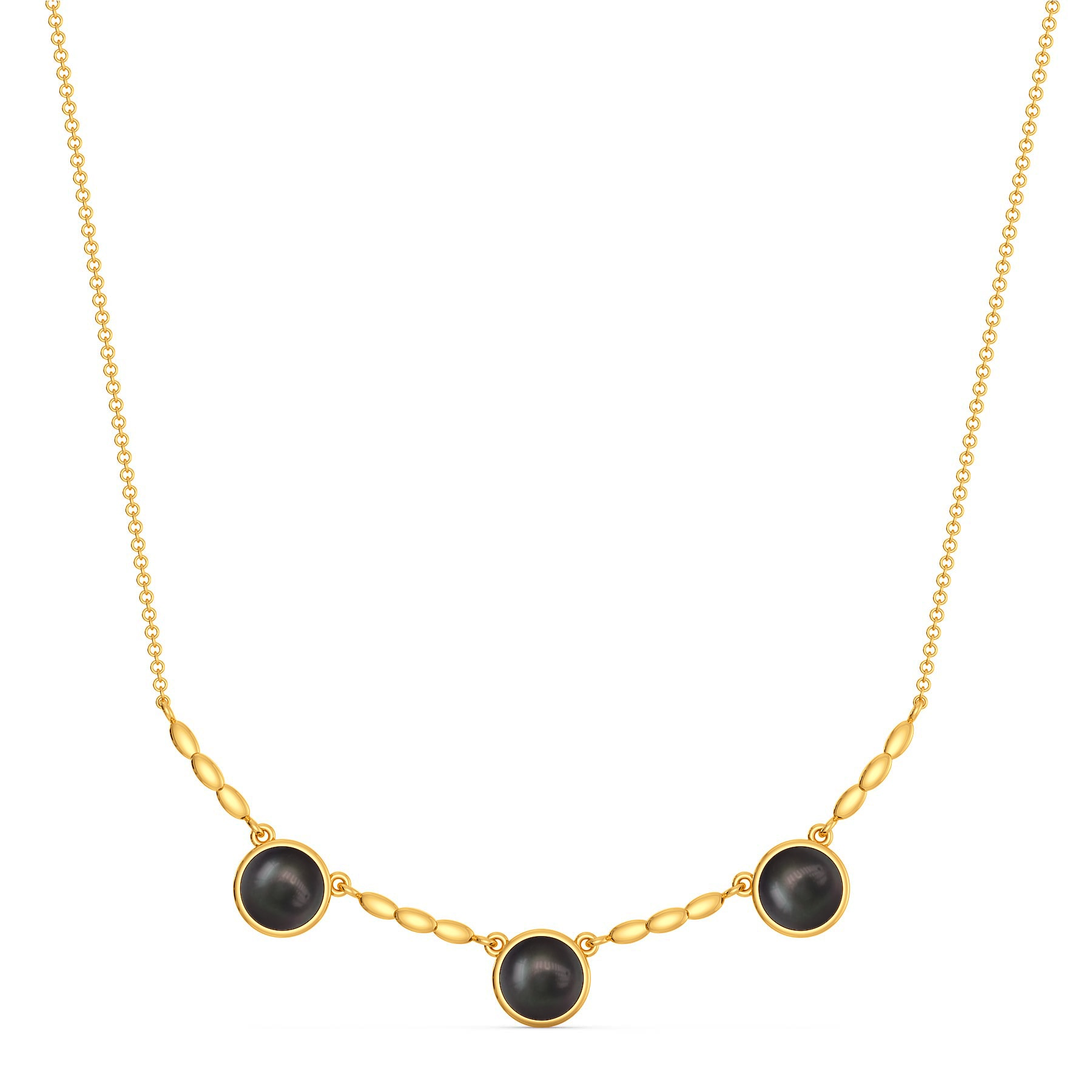 All Over Black Gemstone Necklaces