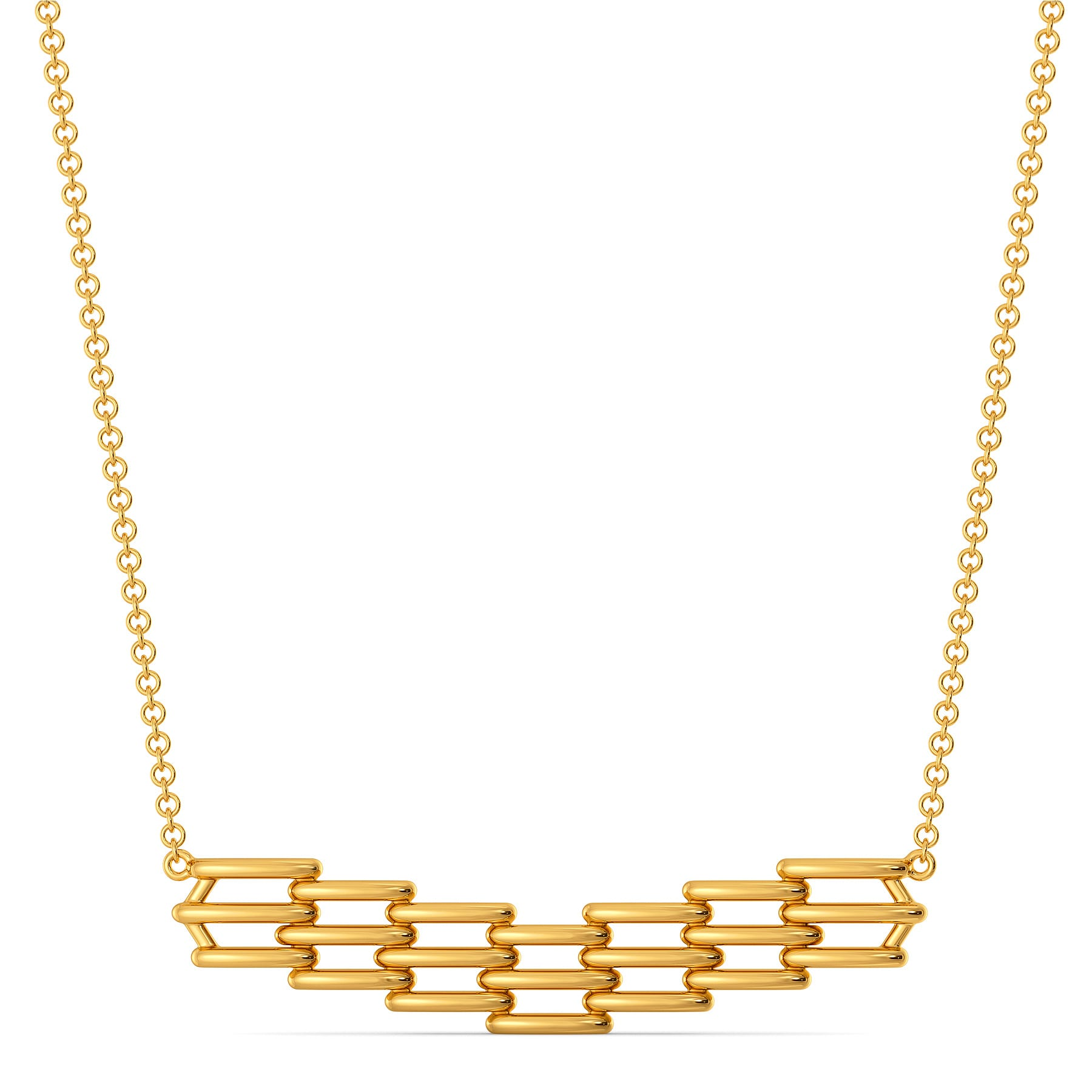 Comfy Puffs Gold Necklaces