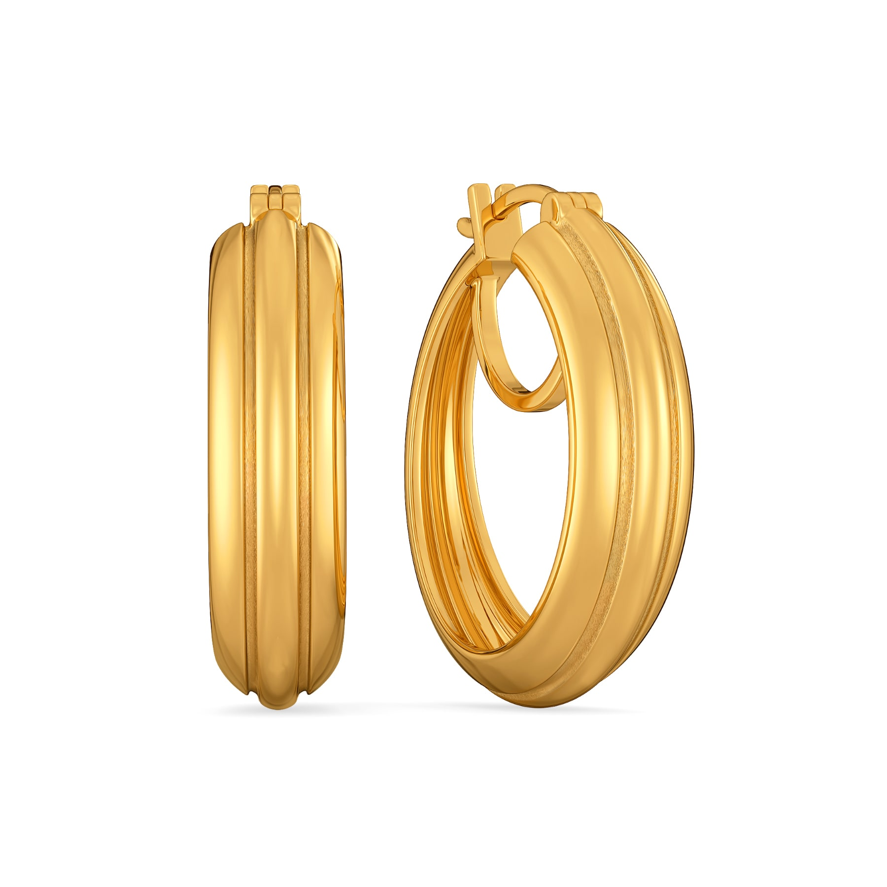 Puff Parade Gold Earrings