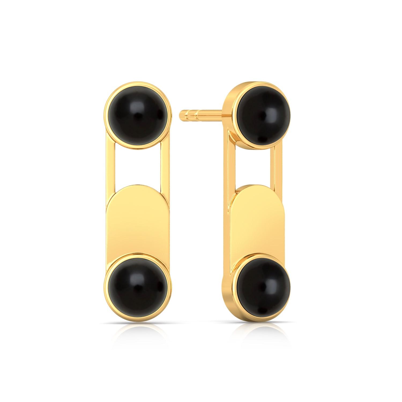 Paperclip Gemstone Earrings