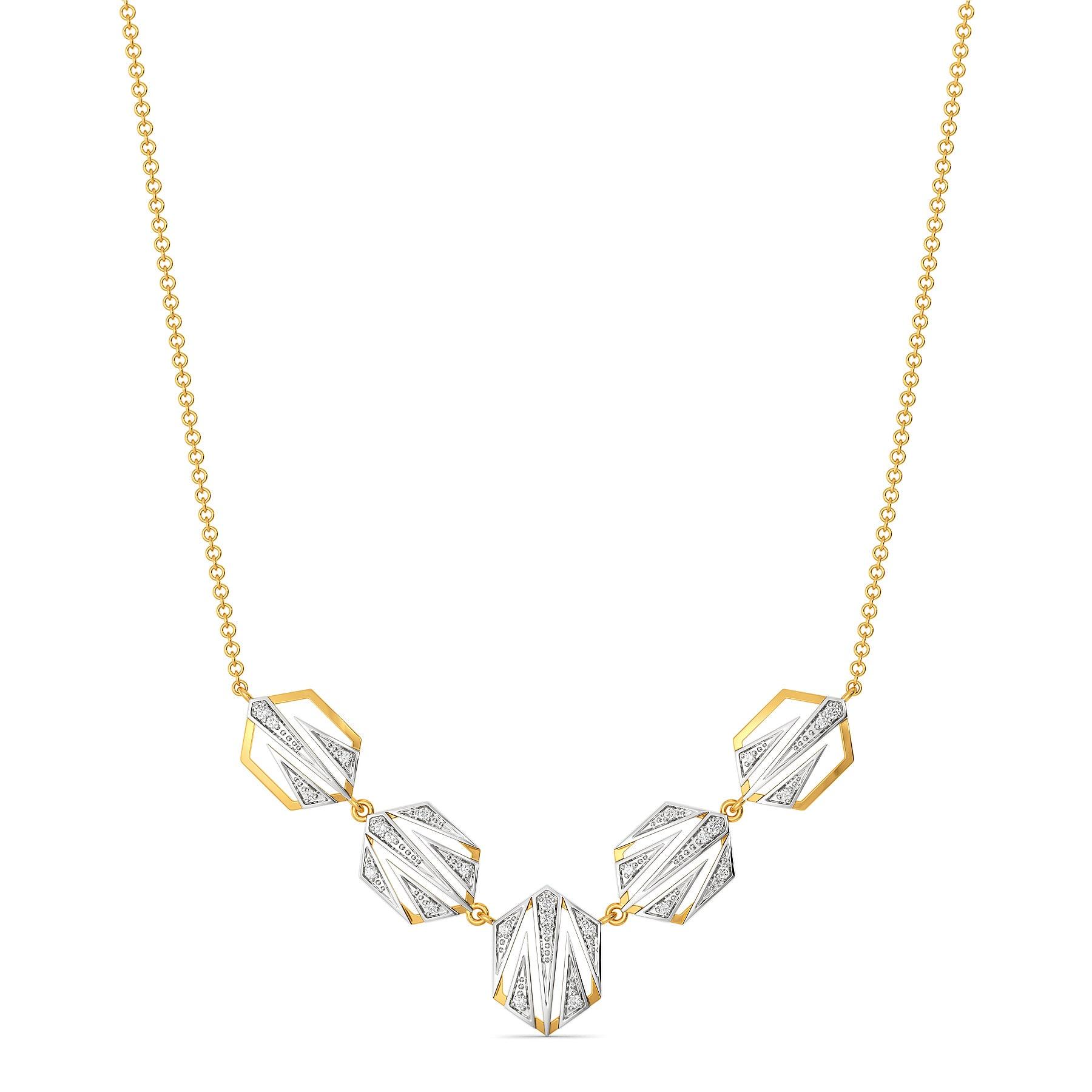 Sharp N Chic Diamond Necklaces