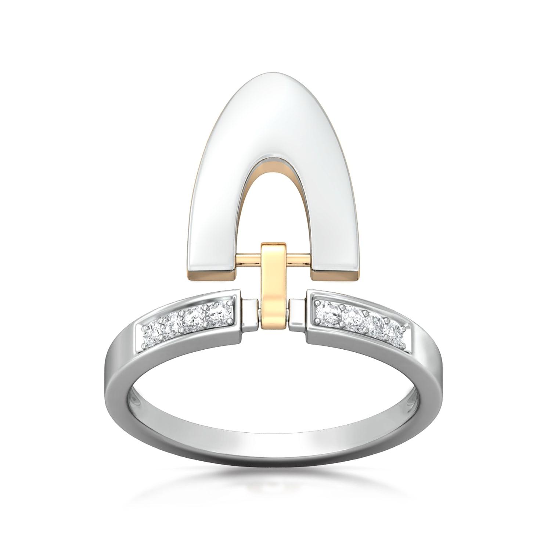 Buckle Up Diamond Rings
