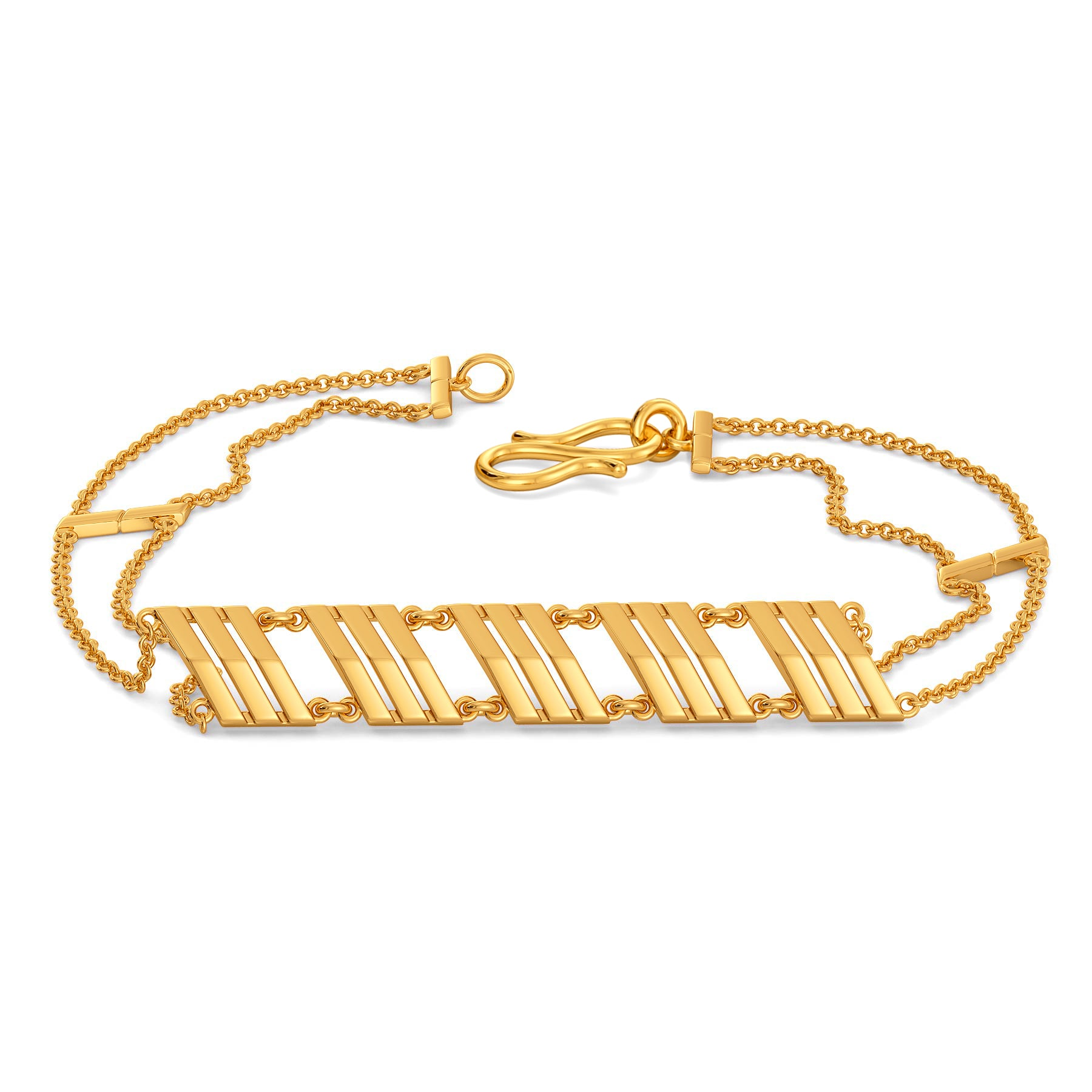 Bold Shoulders Gold Bracelets