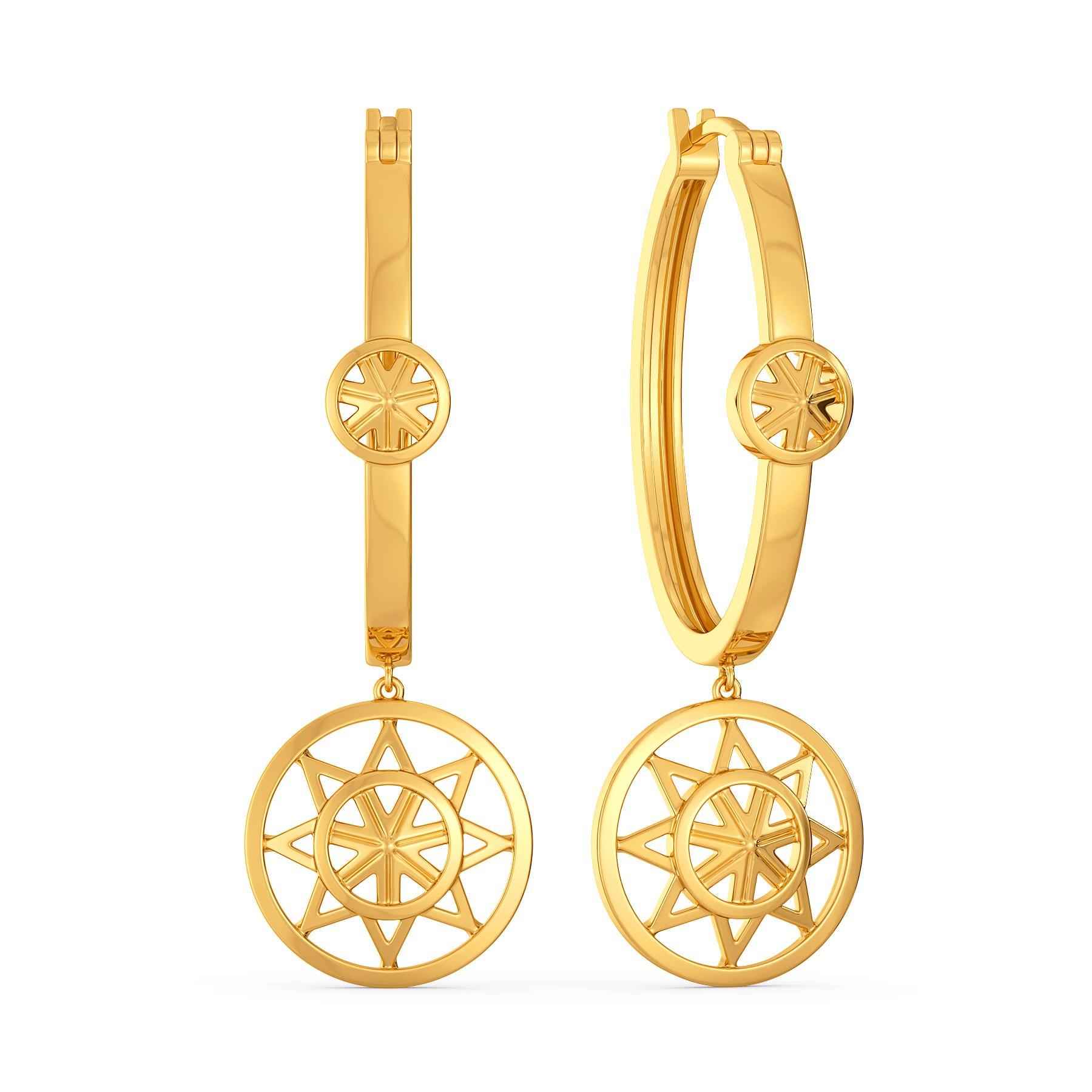 Serene Drapes Gold Earrings