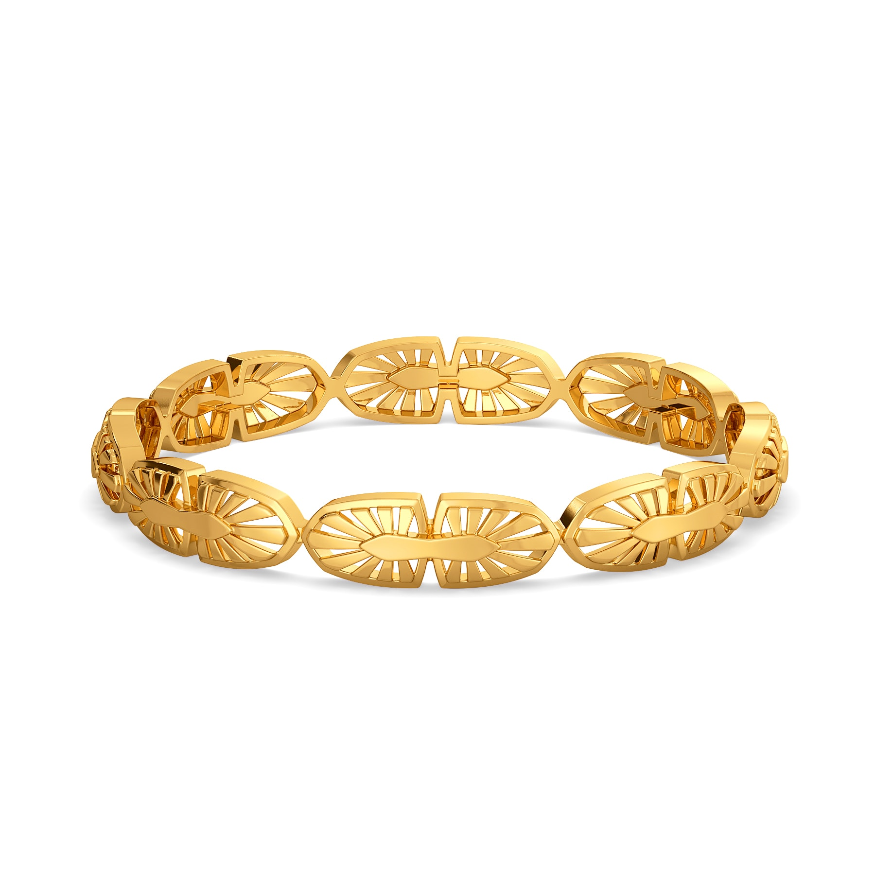 Leisure Layers Gold Bangles