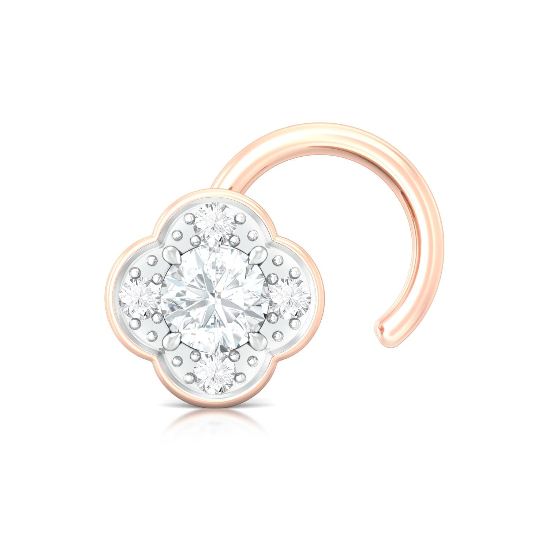 Eternity Blossoms Diamond Nose Pins