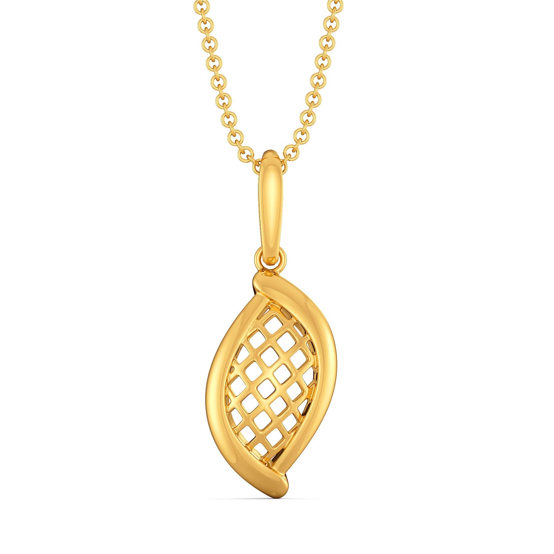 Flounce O Charm Gold Pendants