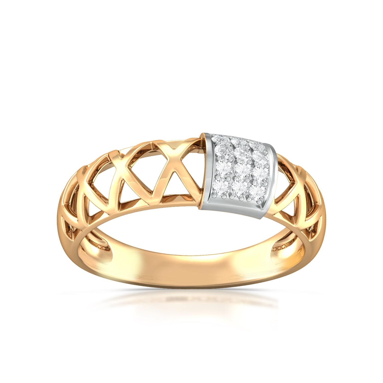 Golden Weave Diamond Rings