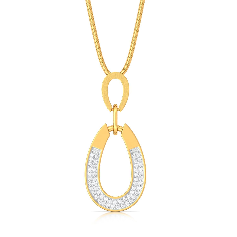 Frost on Gold Diamond Pendants
