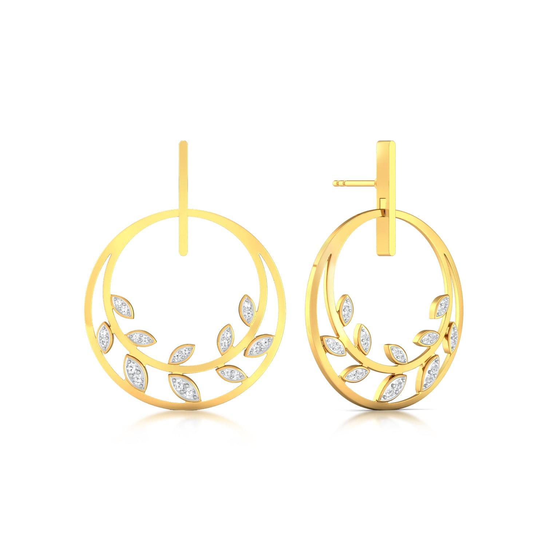 Leaves of Paradise Diamond Earrings