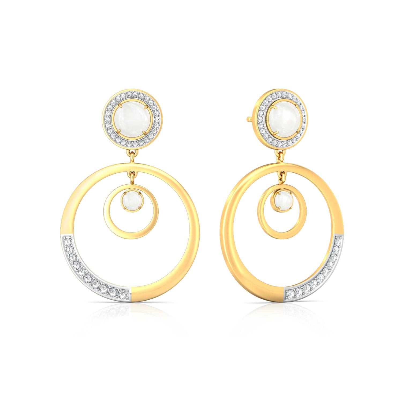 Moon Drops Diamond Earrings