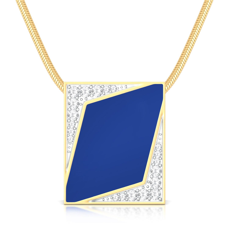 Indigo Star  Diamond Pendants
