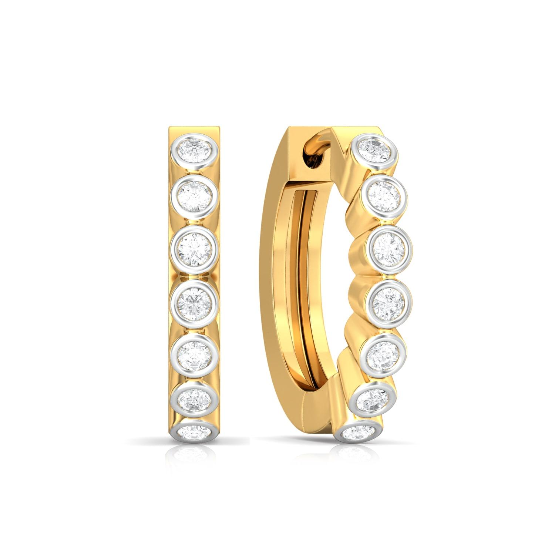 Endless Loop Diamond Earrings