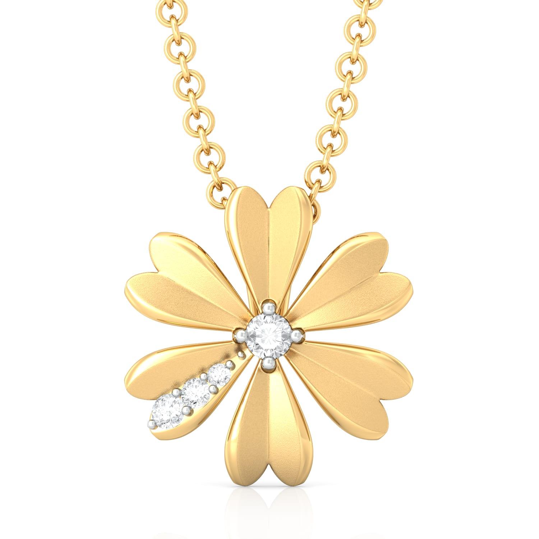 Peek-a-Bloom Diamond Pendants