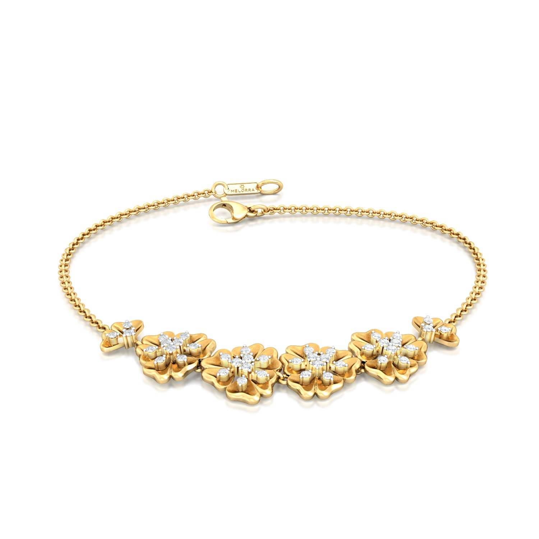 Belle-Flower Diamond Bracelets