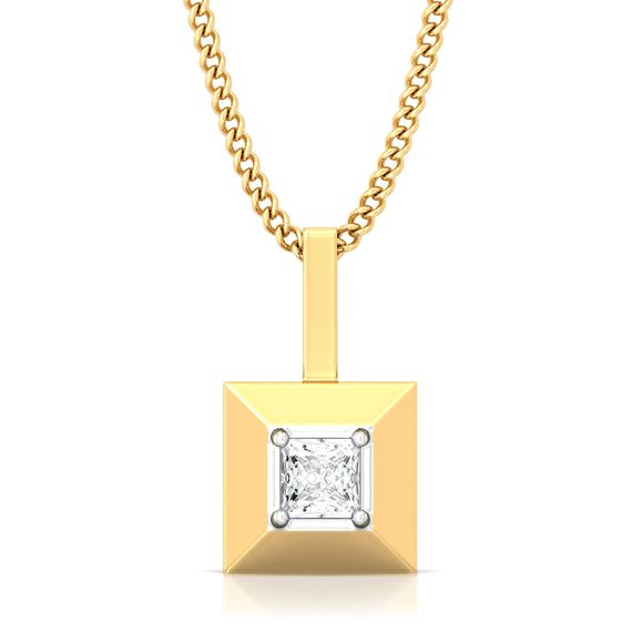 Pyramid Valley Diamond Pendants