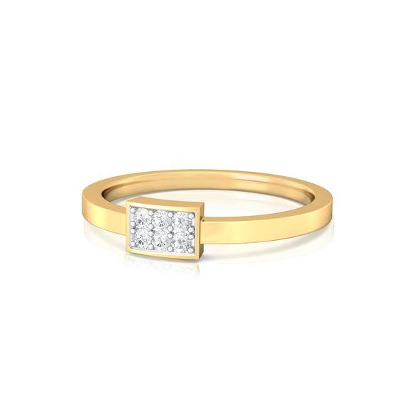 Oblong Bling Diamond Rings