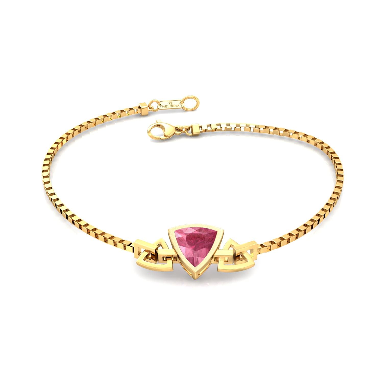 Fuchsia Rose Gemstone Bracelets