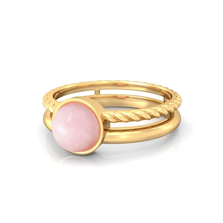 Ballet Pink Gemstone Rings