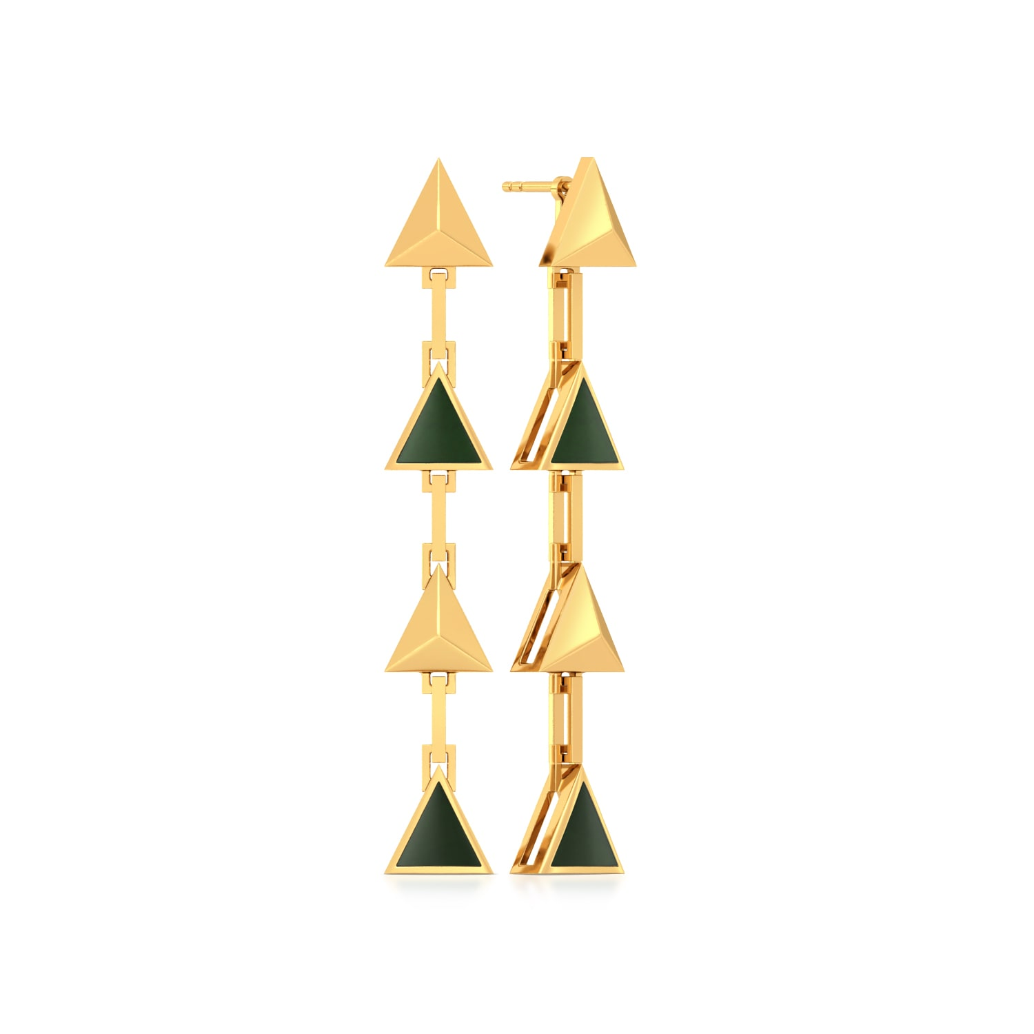 3rd Division Gold Earrings