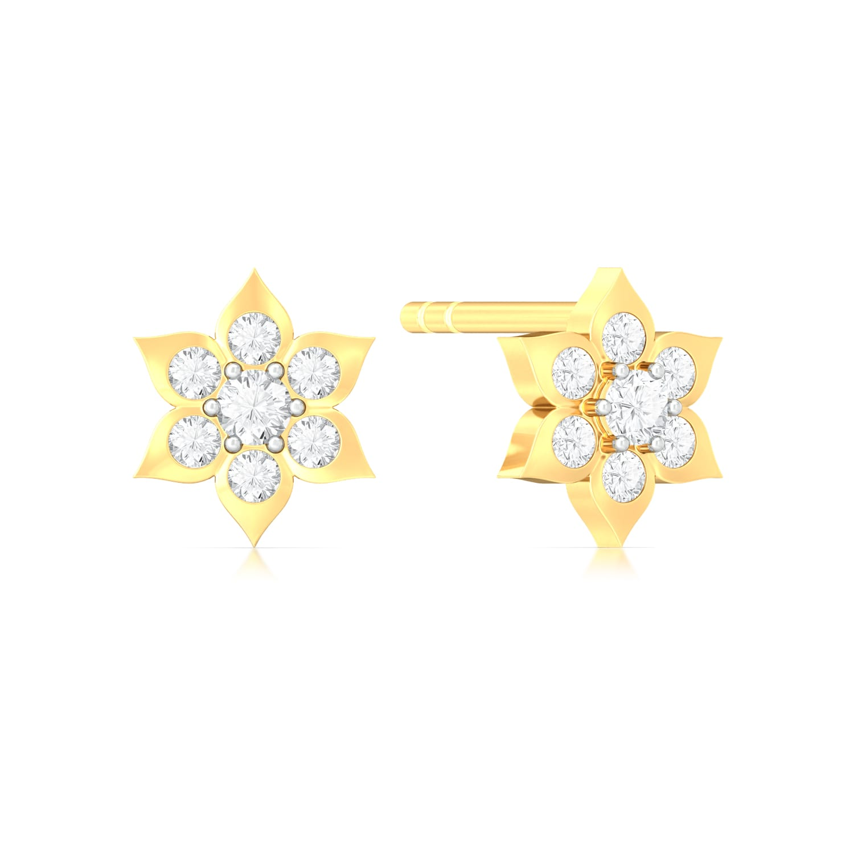Blooming Star Diamond Earrings