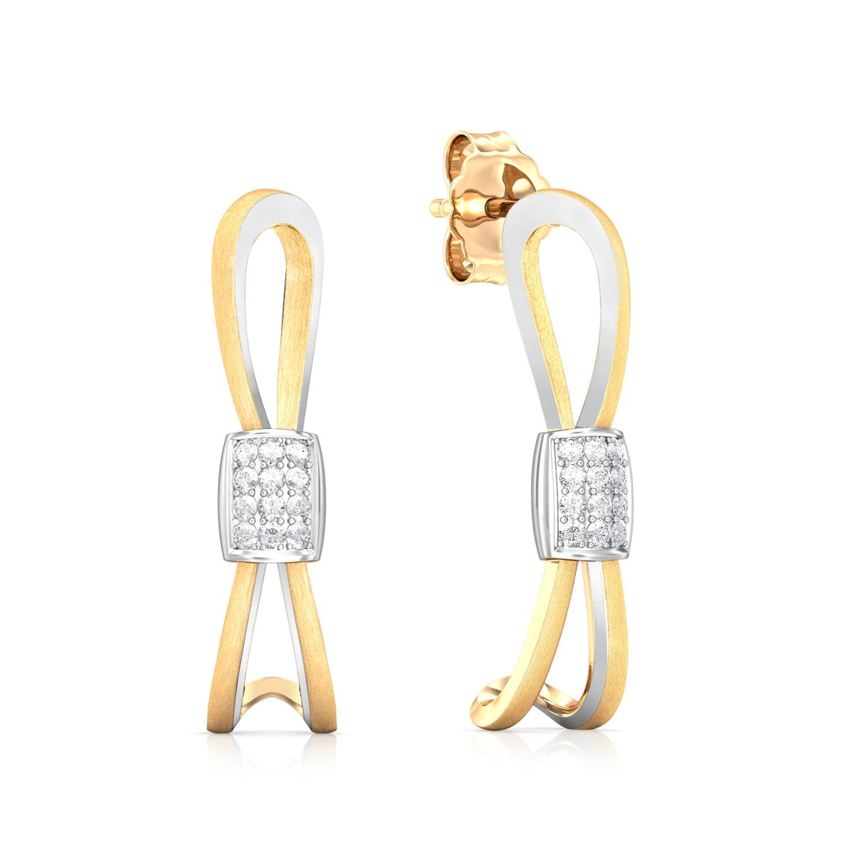 Brilliant Crimp Diamond Earrings