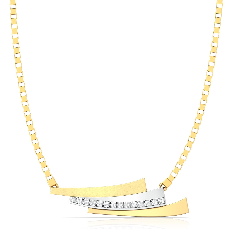 Pleat Play Diamond Necklaces