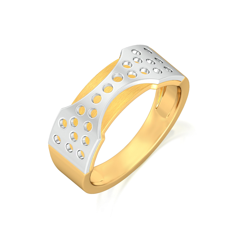 Yellow husk Gold Rings