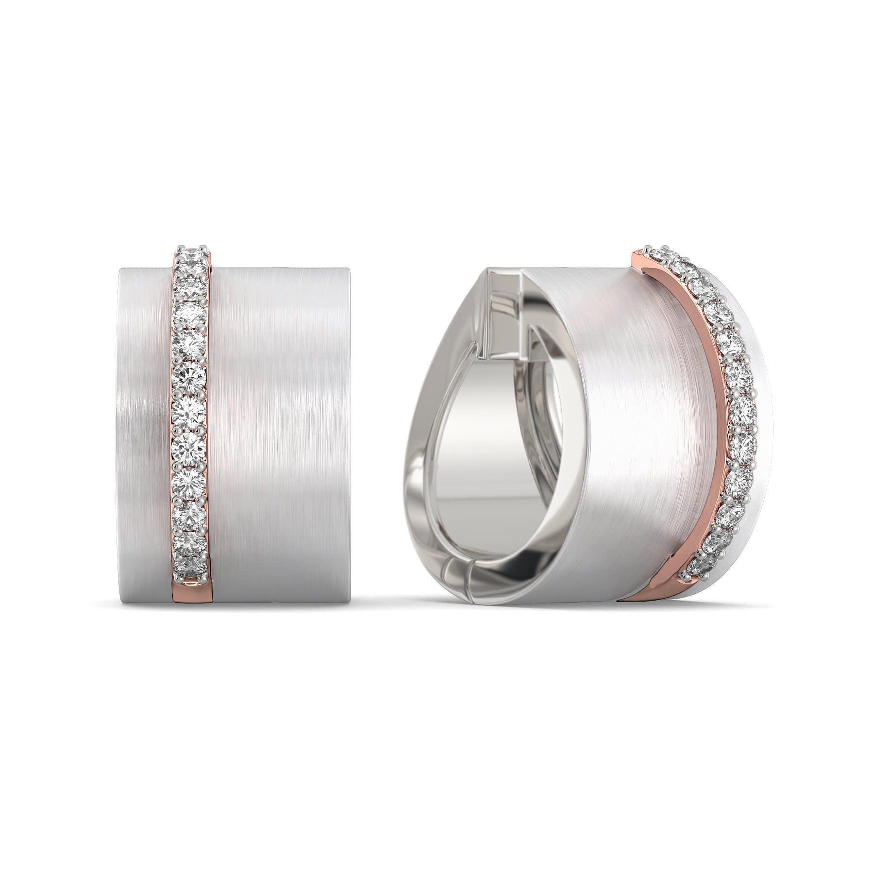 Frosted white Diamond Earrings