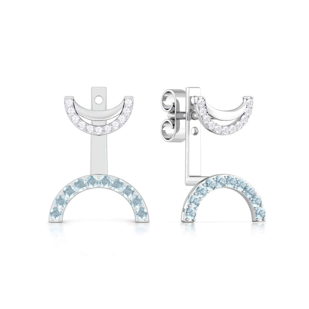 Hip Paperclip Diamond Earrings