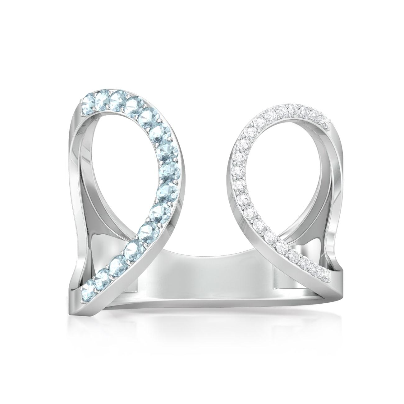 Hip Paperclip Diamond Rings