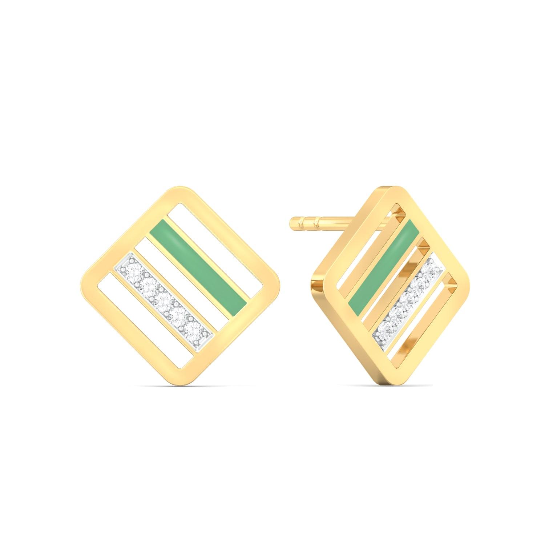 Hint Of Mint Diamond Earrings