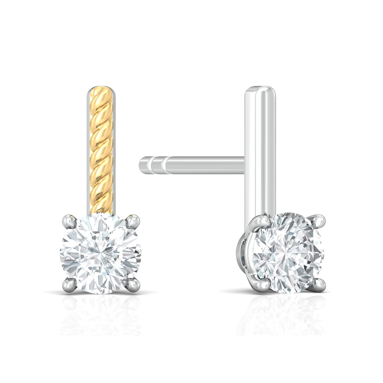 Solitaire Extraordinaire Diamond Earrings
