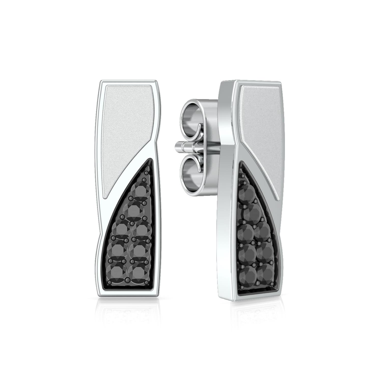 Matchstick  Diamond Earrings