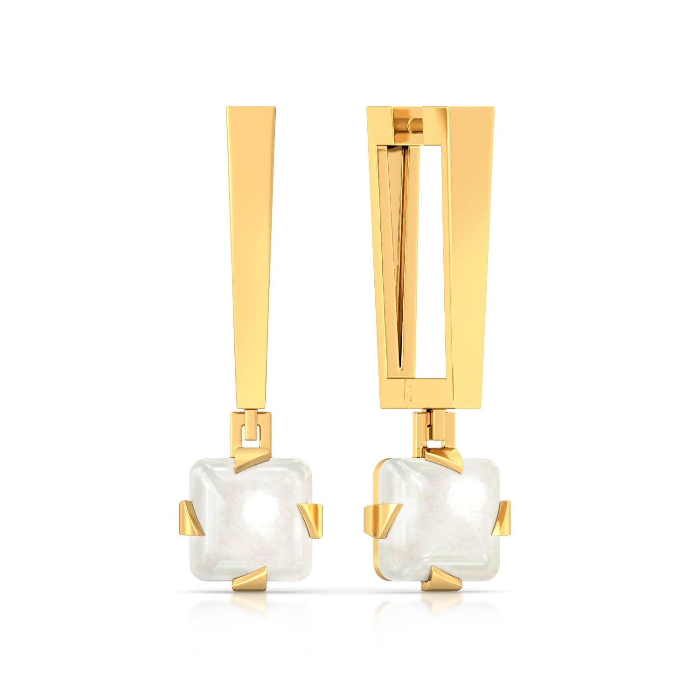 Whiter Than White Gemstone Earrings