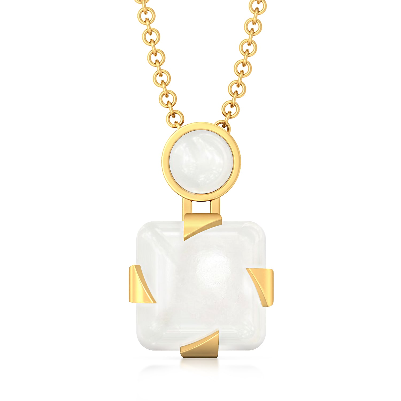 Whiter Than White Gemstone Pendants