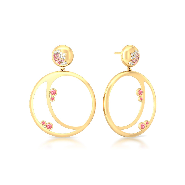 Pink Champagne Gemstone Earrings