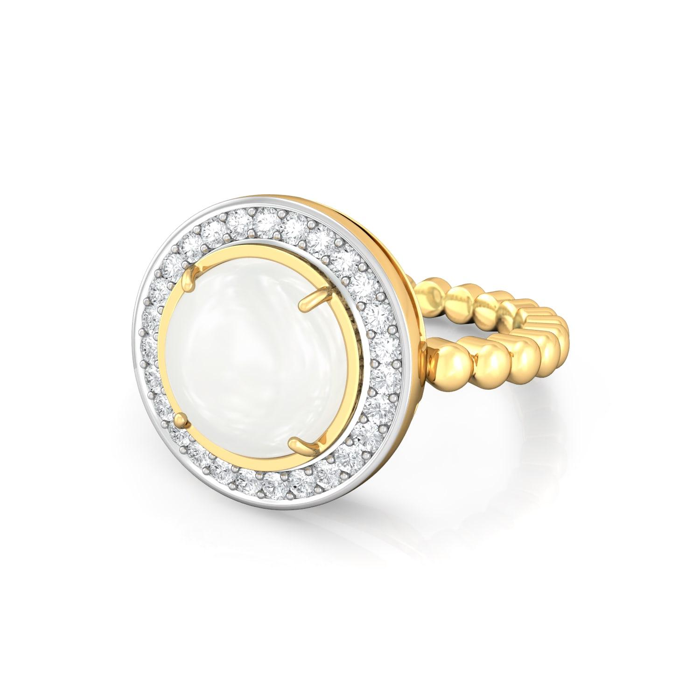Moon Drops Diamond Rings