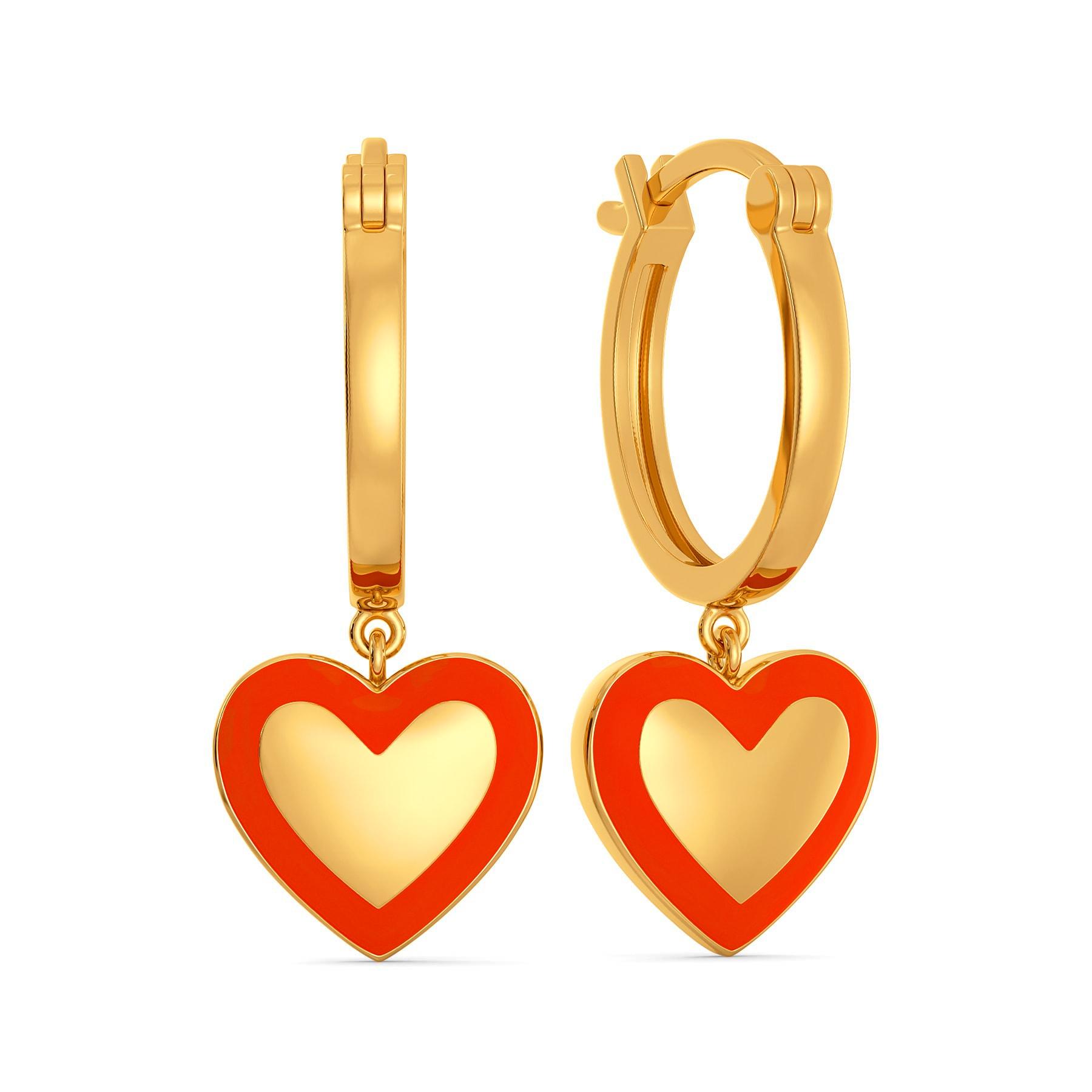 Fluoro Fire Gold Earrings