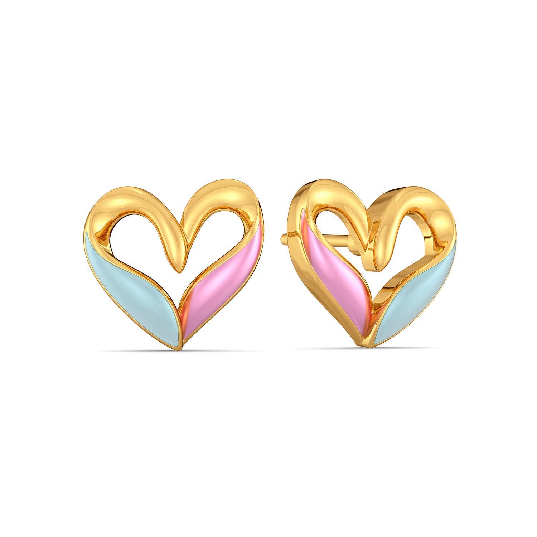 Blue Blush Gold Earrings