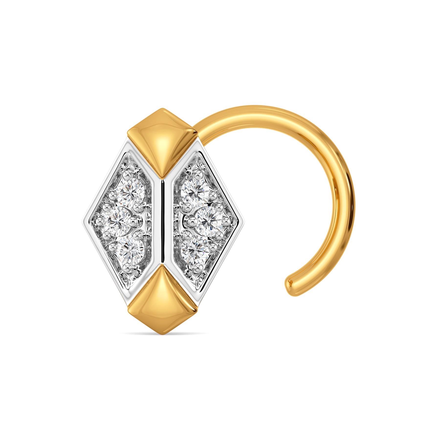 Subtle Save Diamond Nose Pins