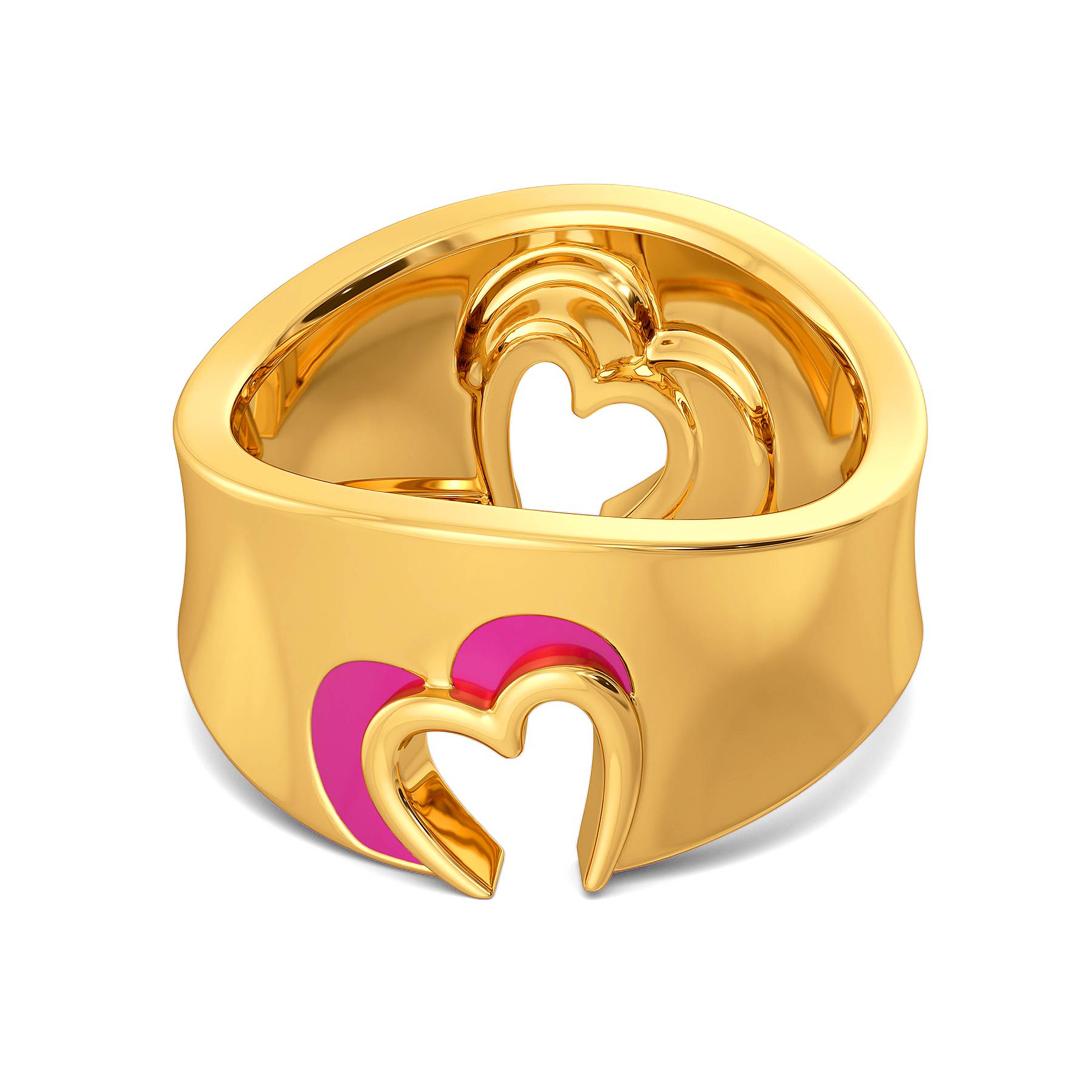 Fuchsian Love Gold Rings