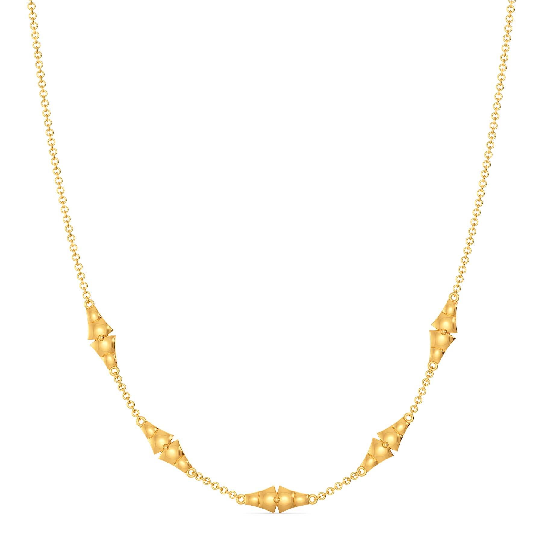 A Quilt Stitch Gold Necklaces