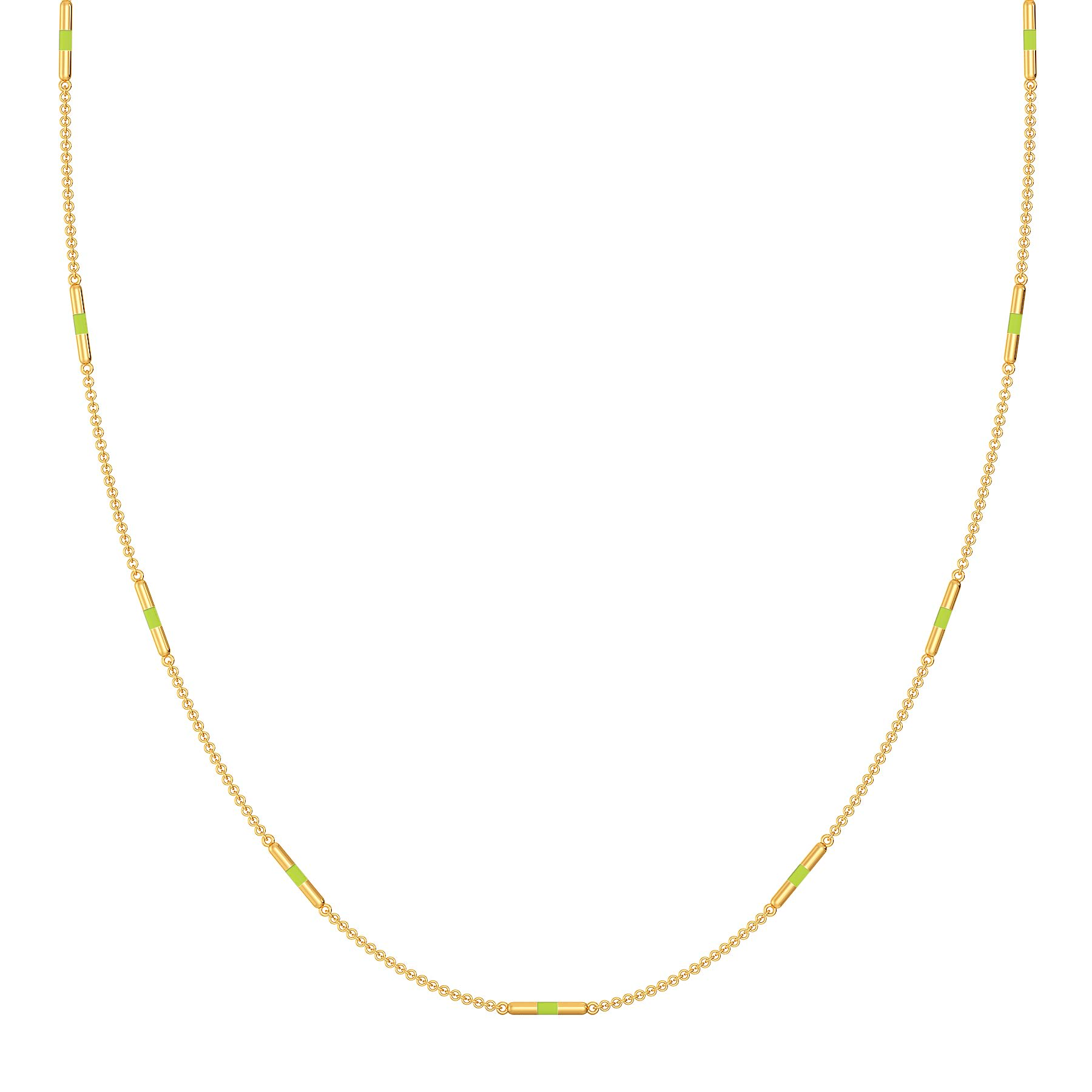 Colour Me Neon Gold Necklaces