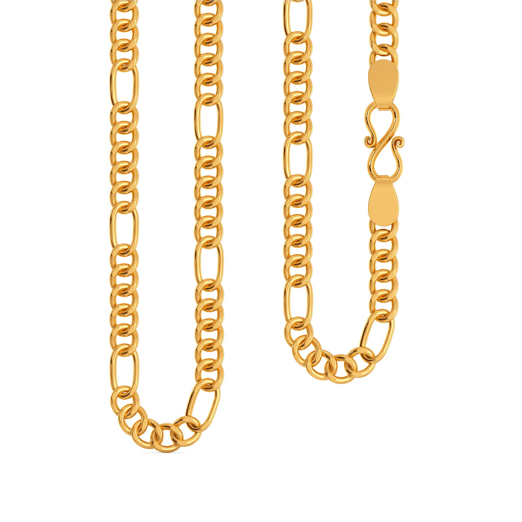 22kt Penta Figaro Chain Gold Chains