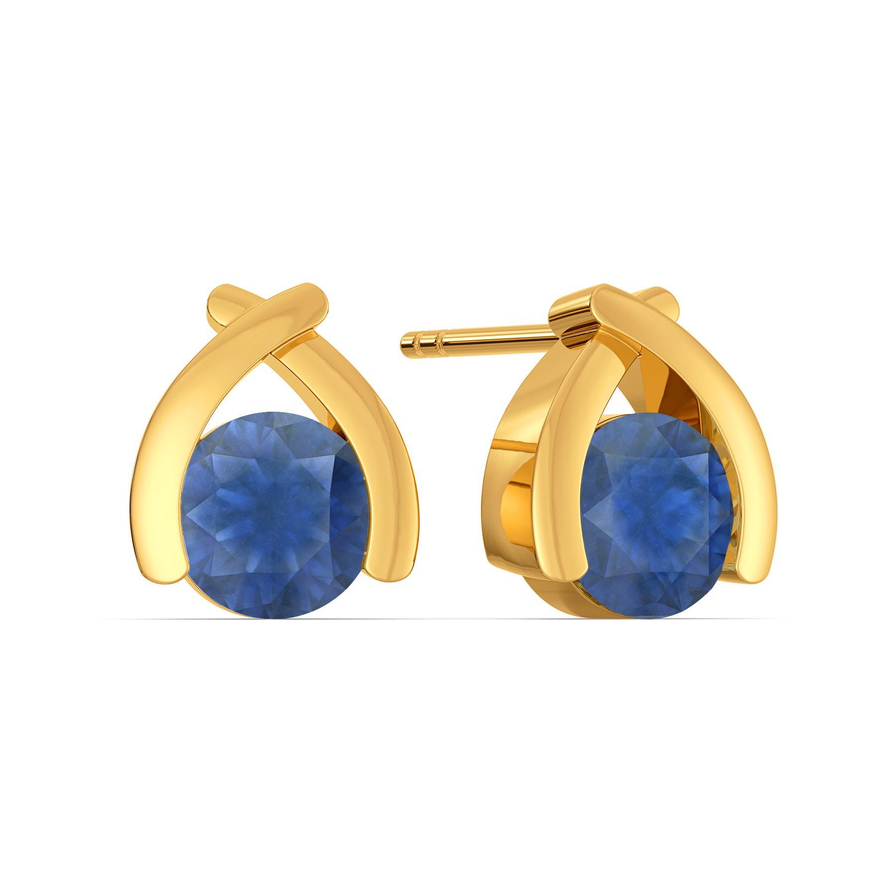 Blue Brews Gemstone Earrings