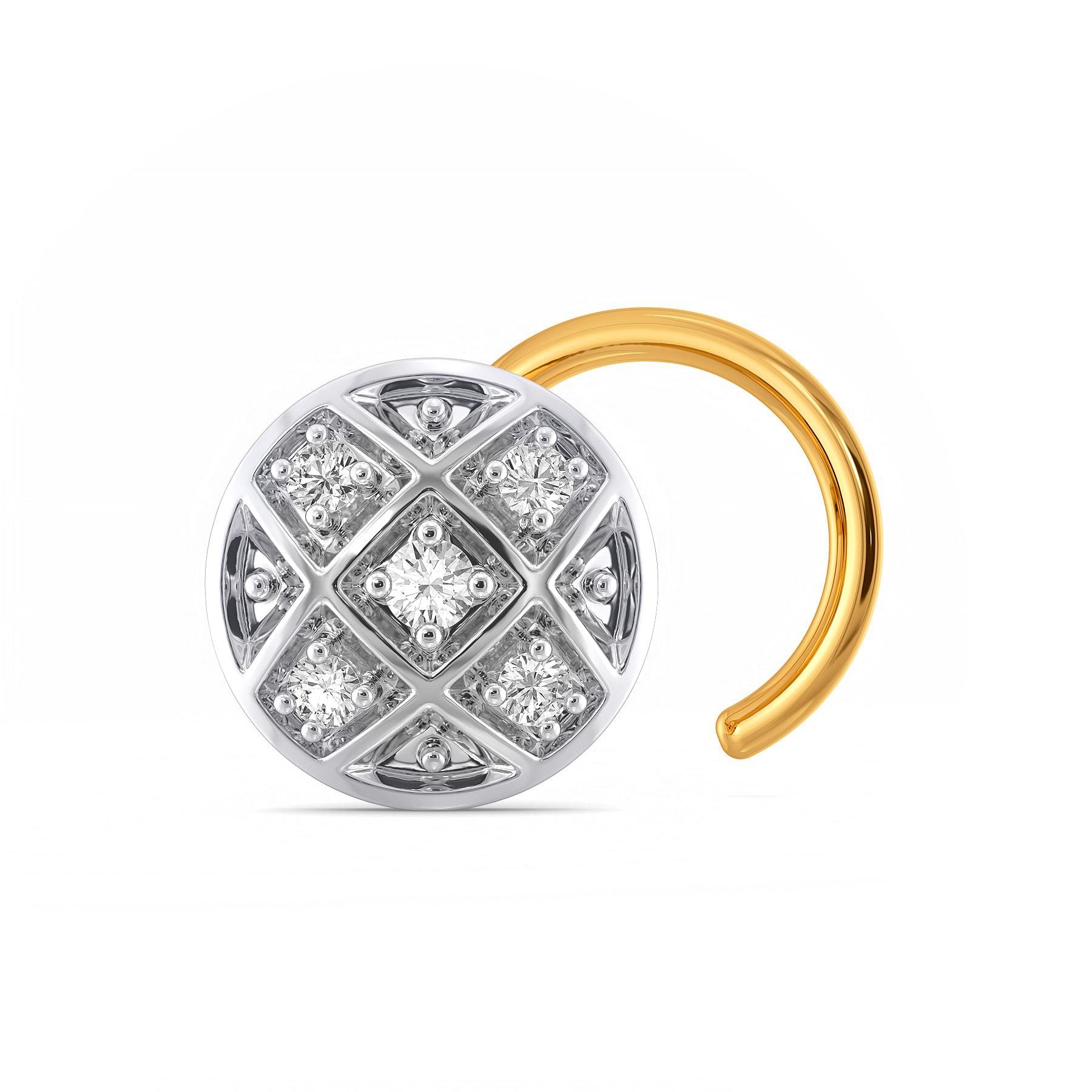 Multi Check Diamond Nose Pins