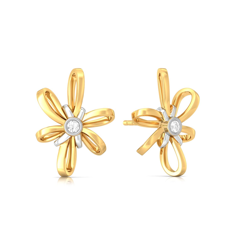 Blossom Ribbon Diamond Earrings