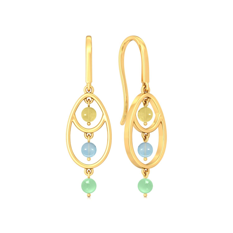 Hello Cakesicles Gemstone Earrings