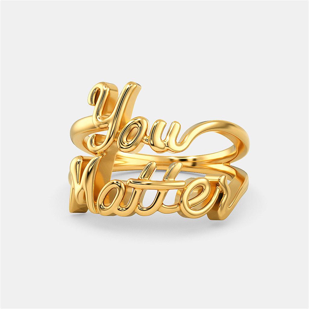 You Matter Gold Rings